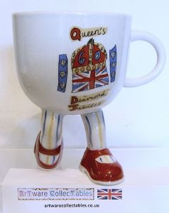 Artware Collectables Walking Ware Queen's Diamond Jubilee Kneeling Cup - L/E - SOLD